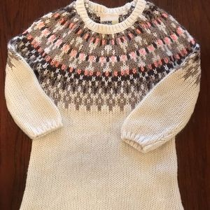 Brown and Pink Sweater Dress